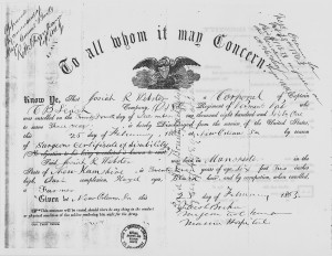 Josiah_Webster_Civil_War_Discharge_Certificate_February_1863_-_NARA_-_192986-300x232