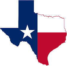 Texas with flag